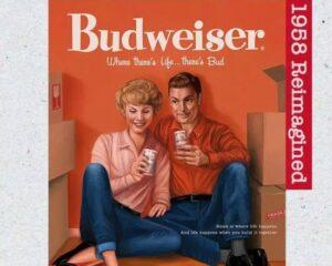 """Budweiser """"conserta"""" cartazes"""