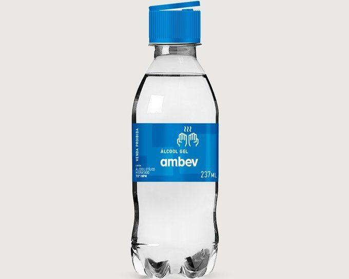 álcool gel ambev